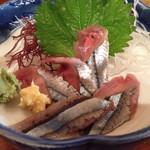 海味 魚がし - 生さんま刺(今日のサービスセット)