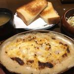 72408117 - ミックスグラタン 750円                       ※トースト、サラダ、味噌汁つき