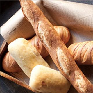 こだわりの自家製パン食べ放題!