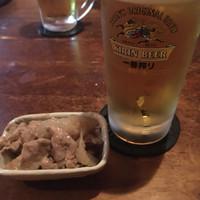 ザッカ-生ビールとお通し