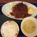 丹行味素 - 2017年9月 ビックメンチカツ定食 990円(8/31~9/2夜のみ)