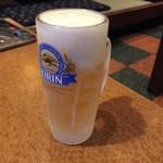 ホルモン一 - ドリンク写真:生ビール