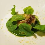 コルツ - 鰆のムニエル、小豆菜(あずきな)のソース