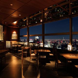東京の夜景を一望できる贅沢空間