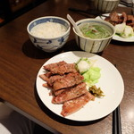 牛たんの一仙 - 牛タン焼き1.5人前定食(2700円)