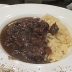 ビストロ ヌー - 牛すじ肉のハッシュドビーフ、バターライス添え