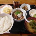 たか村 - もつ煮込み定食¥540-
