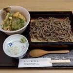 手打そば かのん - 料理写真:野菜天丼セット(900円)