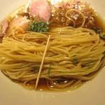 九十九里煮干つけ麺 志奈田 - 細麺、細さ、形状