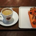 サンマルクカフェ - バナナ入りハロウィンチョコクロ&ブレンド珈琲M475円