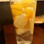 赤身とホルモン焼 のんき - 凍結レモンハイボール
