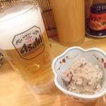 六もん - お通しのタラコ煮