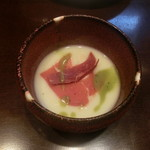 鉄板ふくもと - ジャガイモの冷製スープ