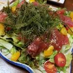 琉球酒場りっかりっか - キハダまぐろのサラダ仕立て