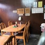 蓬莱 - 2017年9月 茶色になった店内