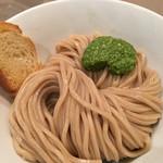 つけ麺 五ノ神製作所 - 海老トマトつけ麺、味玉付き