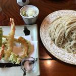 五色庵 - 天ぷらそば‥ ¥1,600(大盛り¥500)