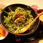 オーガニックカフェ・ラムノ - アボカドユッケ御膳