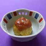 福来鳥 - 揚げジャガイモの味噌だれがけ