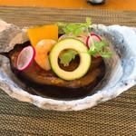 日本料理 花野江 - 賀茂茄子のピリ辛田楽*とても美味しかった!!