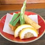日本料理 花野江 - メインは、レンコンとしいたけのはさみ揚げ