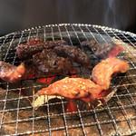 大成食道 - A.炭火焼肉ランチ 930円。