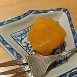 いしづか - 菓子(杏と薩摩芋の練り物)