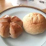 ベーカリーマキマキ - くるみパンと明太子パン