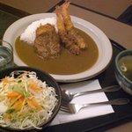 函館とんき - 海老フライ&ヒレカツカレー880円