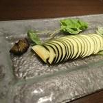トラットリア マッサ - 愛知県産水なすのカルパッチョ 600円