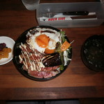 ロックサイド. - ステーキ丼