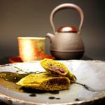 起き上り本舗 - 長良川 和菓子屋のスティックケーキ 抹茶(小倉餡)