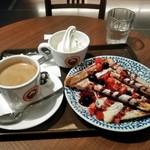 サンマルクカフェ - [料理] フレンチトースト (ミックスベリー) & Hot珈琲 セット全景♪w