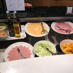 72468434 - 朝食ブュッフェ「ハムとチーズコーナー」