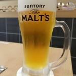 アルカキット錦糸町こてがえし - 生ビール(518円)