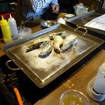 かき殻荘 - 蒸し牡蠣④