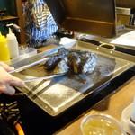 かき殻荘 - 蒸し牡蠣③