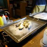 かき殻荘 - 蒸し牡蠣①