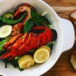 オマール海老と季節野菜のアヒージョ