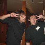 遊食彩宴居酒屋 Jambo家 - 左が店長さん。スタッフさん達もみんな明るく でも丁寧に応じてくれます