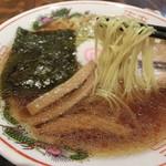 中華そば 一 - 中華そば702円+浜松餃子378円。