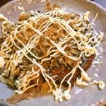 和食・酒 えん - 【明石】蛸と山芋のお好み焼き 三晃ソース使用