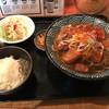 蕎麦さんかく - 料理写真:モツ煮込み蕎麦(温)定食(900円)