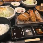 黒かつ亭 - ミックス定食