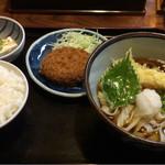 三浦屋 - 天ころきしめんと、ご飯小定食