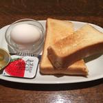 トラジャコーヒー - トースト&ゆで卵