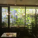 すずの木カフェ - 大きな窓からの差し込む光