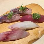 沼津 魚がし鮨 流れ鮨 - 2017年8月 地鯵、地魚