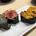 沼津 魚がし鮨 流れ鮨 - 2017年8月 生しらす、生桜海老、雲丹