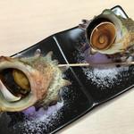 沼津 魚がし鮨 流れ鮨 - 2017年8月 さざえの壺焼き